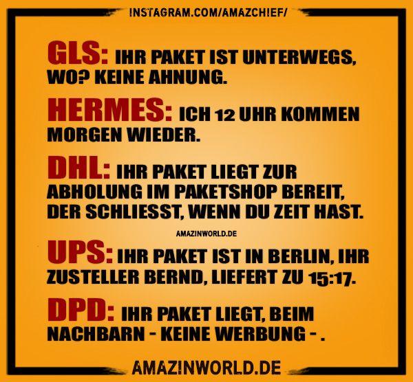 Paketdienste Ihr Paket Amazinworld Lustige Fakten Zitat Des Tages Lustige Spruche