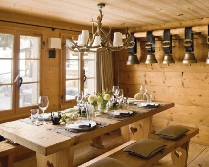 For my future chalet. Love the light fixture!
