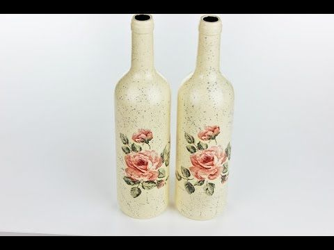 Decoupage bottles - Fast & Easy Tutorial - DIY - YouTube