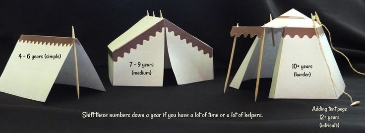 Biblical / Roman tents free templates (pdf download). Easily adapted | Jesus-without-language.net