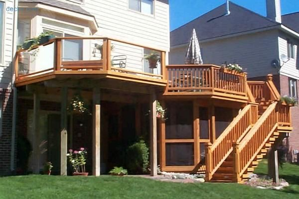 75 best images about home life backyard decks on pinterest for 3 story deck
