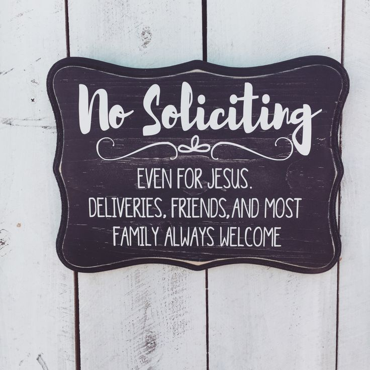No Soliciting Wood Sign, Customize No Soliciting Sign, Make Your Own Sign, Hand Painted, 8x11 by ScrapaliciousAZ on Etsy https://www.etsy.com/listing/449513614/no-soliciting-wood-sign-customize-no