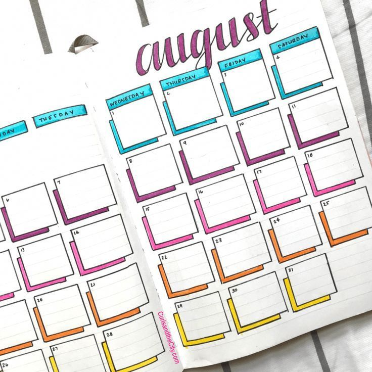 Bullet Journal Weekly Headers Zum Kopieren