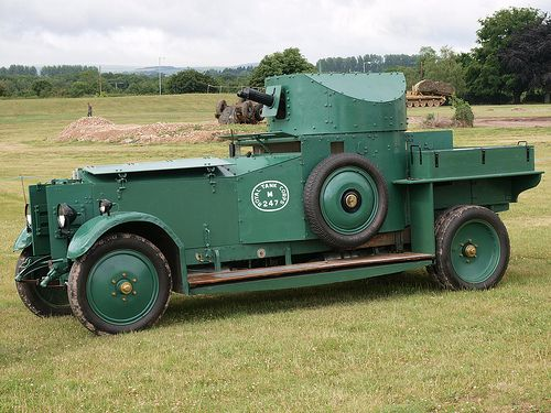 Armored Car - 1920 Rolls Royce Mk1 - Royal Naval Air Service (RNAS) Created the First British Armored Car Squadron During the First World War