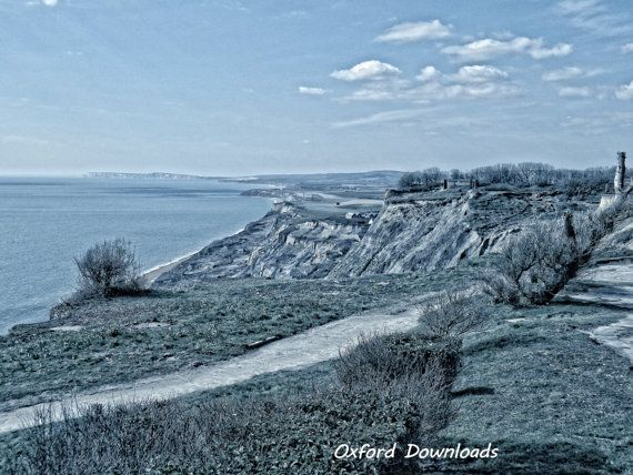 Blackgang Chine Isle of Wight Beach Print Cliff by OxfordDownloads