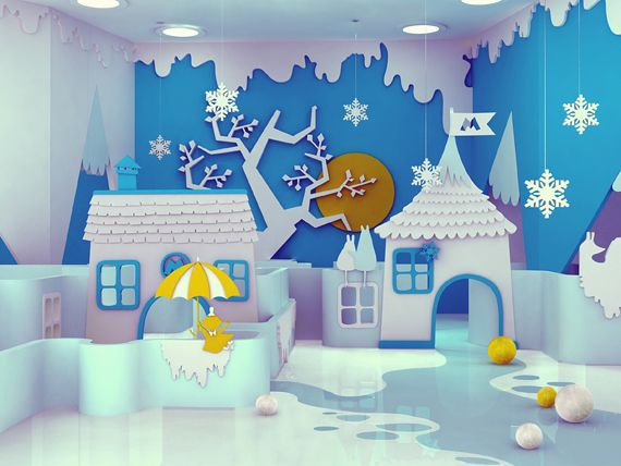 Interior Design based on Tove Jansson's Moomin books, by Maria Yasko.