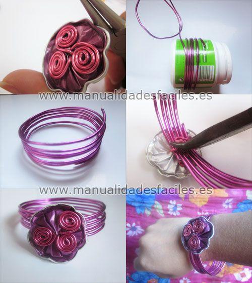 Pulsera con alambre y capsulas Nespreso