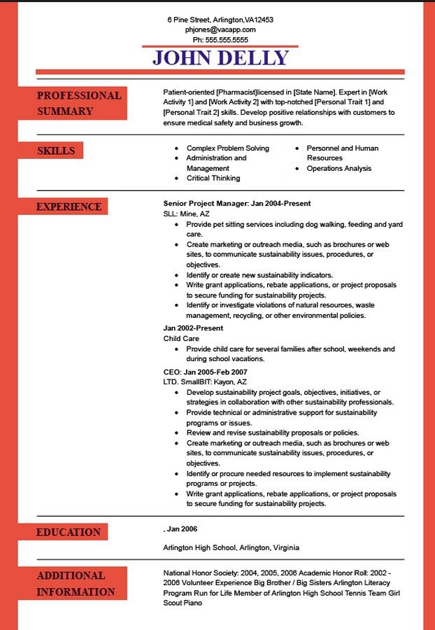 14 best career images on Pinterest Resume tips, Resume ideas and - high school student resume template download