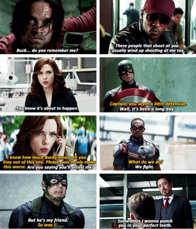 Civil War trailer quotes