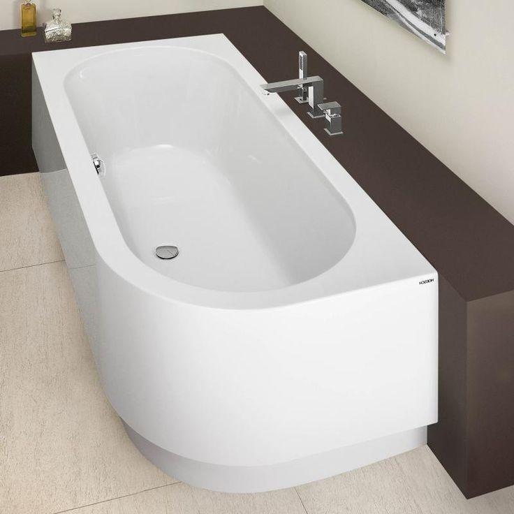 hoesch happy d eck badewanne links mit angeformter sch rze wei reuter bathrooms. Black Bedroom Furniture Sets. Home Design Ideas