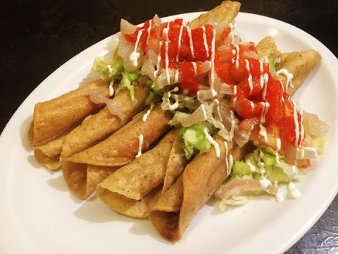 How to make Flautas Recipe, easy delicious, Mexican food.