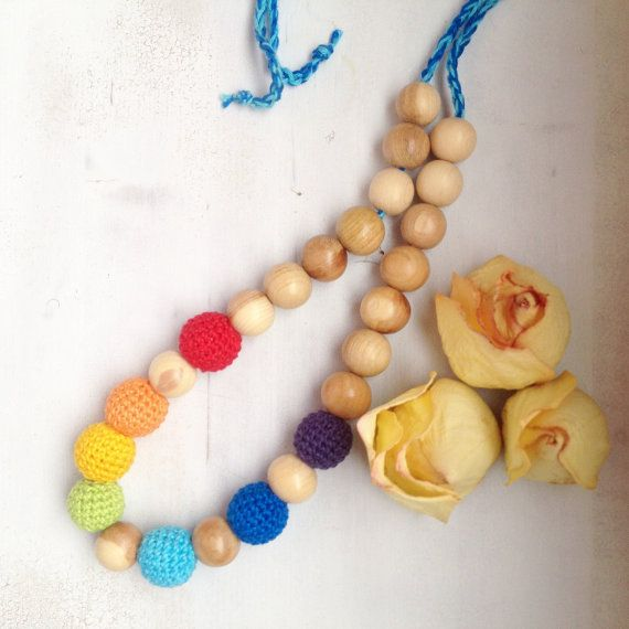 rainbow necklace from espumante on Etsy