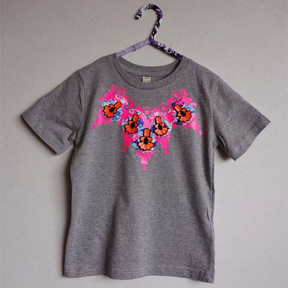 Embellished Children's T-Shirt. Organic cotton T by dAKOTArAEdUST