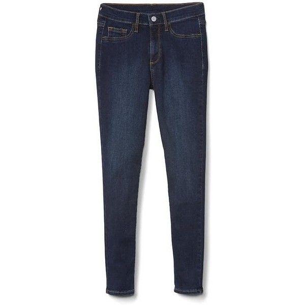 Gap Women Mid Rise Easy Jeggings ($30) ❤ liked on Polyvore featuring pants, leggings, petite pants, tall jeggings, denim jeggings, petite leggings and petite jean leggings