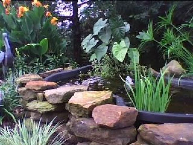 62 best ponds bird baths images on pinterest backyard for Plastic pond ideas