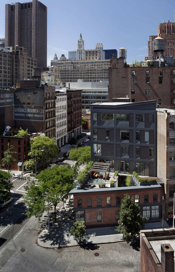 Striking six-storey Townhouse in TriBeCa, NYC by Turett Collaborative Architects