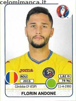UEFA EURO 2016™ Official Sticker Album: Fronte Figurina n. 66 Florin Andone