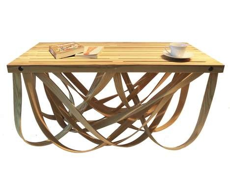 Ribboned Wood Furniture - Yvette Cox's Florence Coffee Table was Created Using Steam Bending