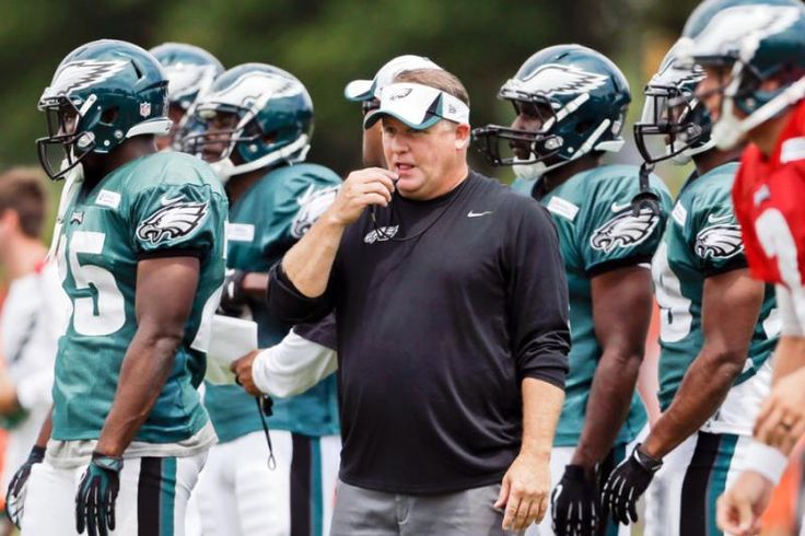 Philadelphia Eagles coach Chip Kelly directs practice at the NFL football team's training camp, Wednesday in Philadelphia. (Matt Rourke/AP)