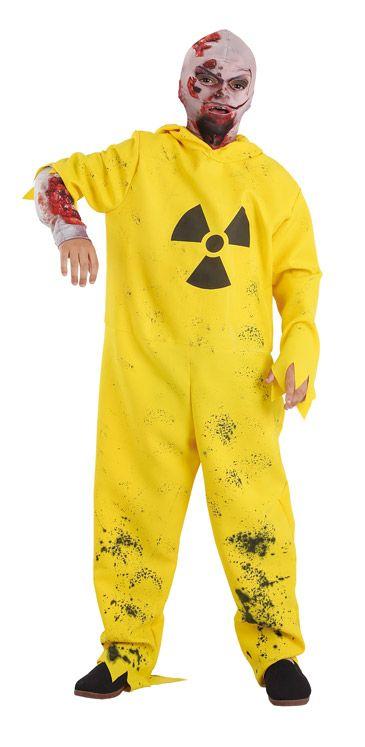 Disfraz de zombie radiactivo infantil para que tu pequeño se convierta en un auténtico zombie.
