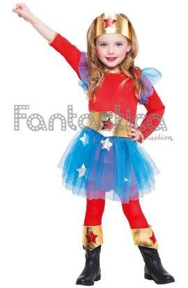 Disfraz de Wonder Woman para niña. Disfraces baratos para niñas, disfraces para Carnaval, disfraces baratos, disfraces infantiles - Tienda Esfantastica
