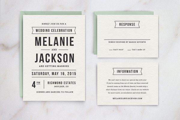 Wedding Invitation Template Suite - Invitations
