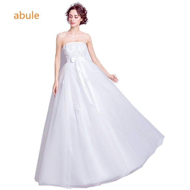 abule wedding dress 2017 Fashionable White Princess boat neck lace-up Wedding gowns Sexy lace up Vestido De Noiva #Affiliate