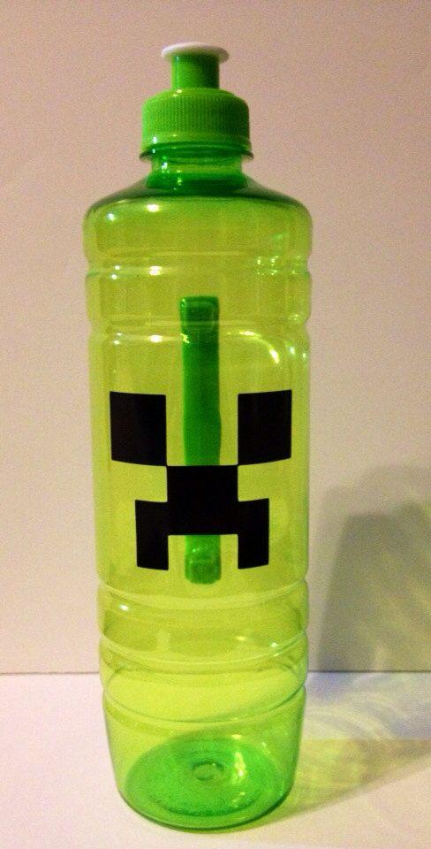 Minecraft Creeper water bottle drink