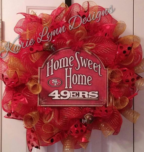 49ers Wreath by KarieLynnDesigns on Etsy