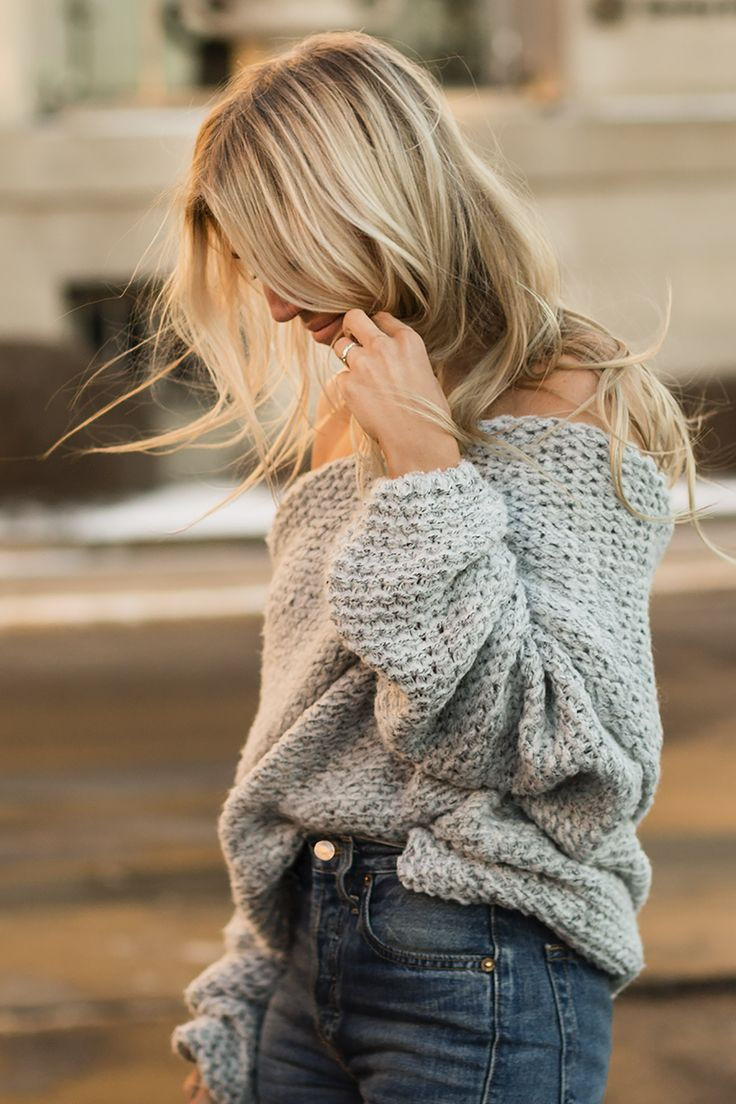 grey knit | The Boyish Girl Blog