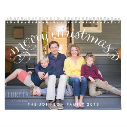 Photo Personalized Calendars 2018 Merry Christmas - office ideas diy customize special
