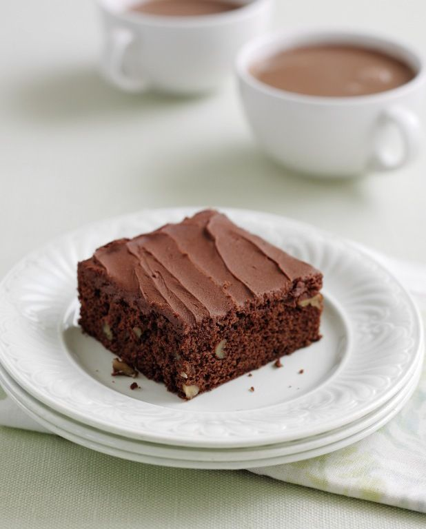 Chocolate Brownies ~ light, cakey texture | recipe from the book 'Mary Berry's Cookery Course' via Reveal.co.uk