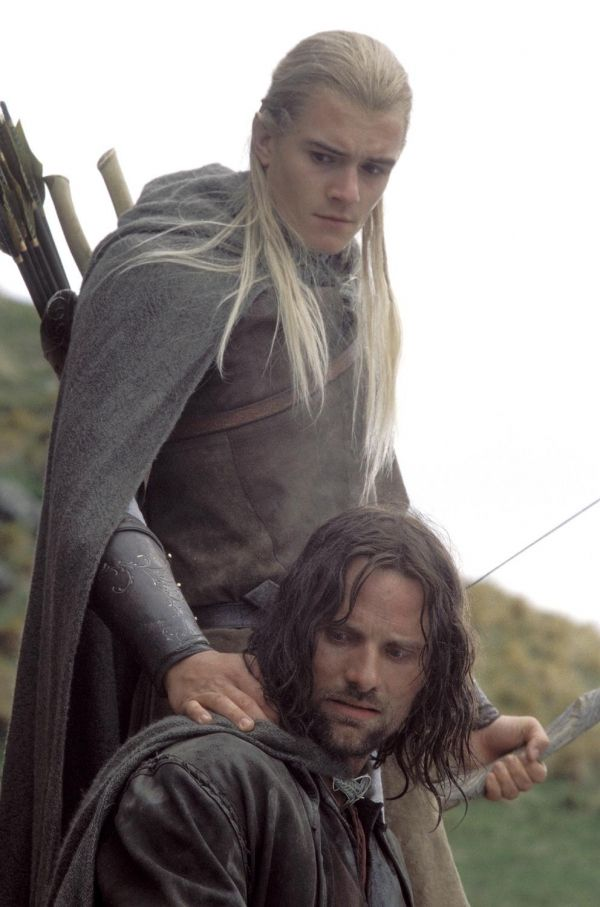 Legolas and Aragorn. The reason why most people think women watch LOTR. Not true in my case, but they are a plus. :)