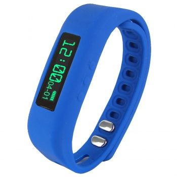 "Supersonic 0.91"""" Fitness Wristband With Bluetooth Pedometer, Calorie Counter and More-Blue SC-62SW-BL"