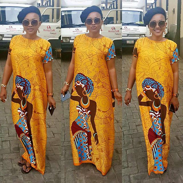 Check Out Mercy Aigbe Lovely Gown Design