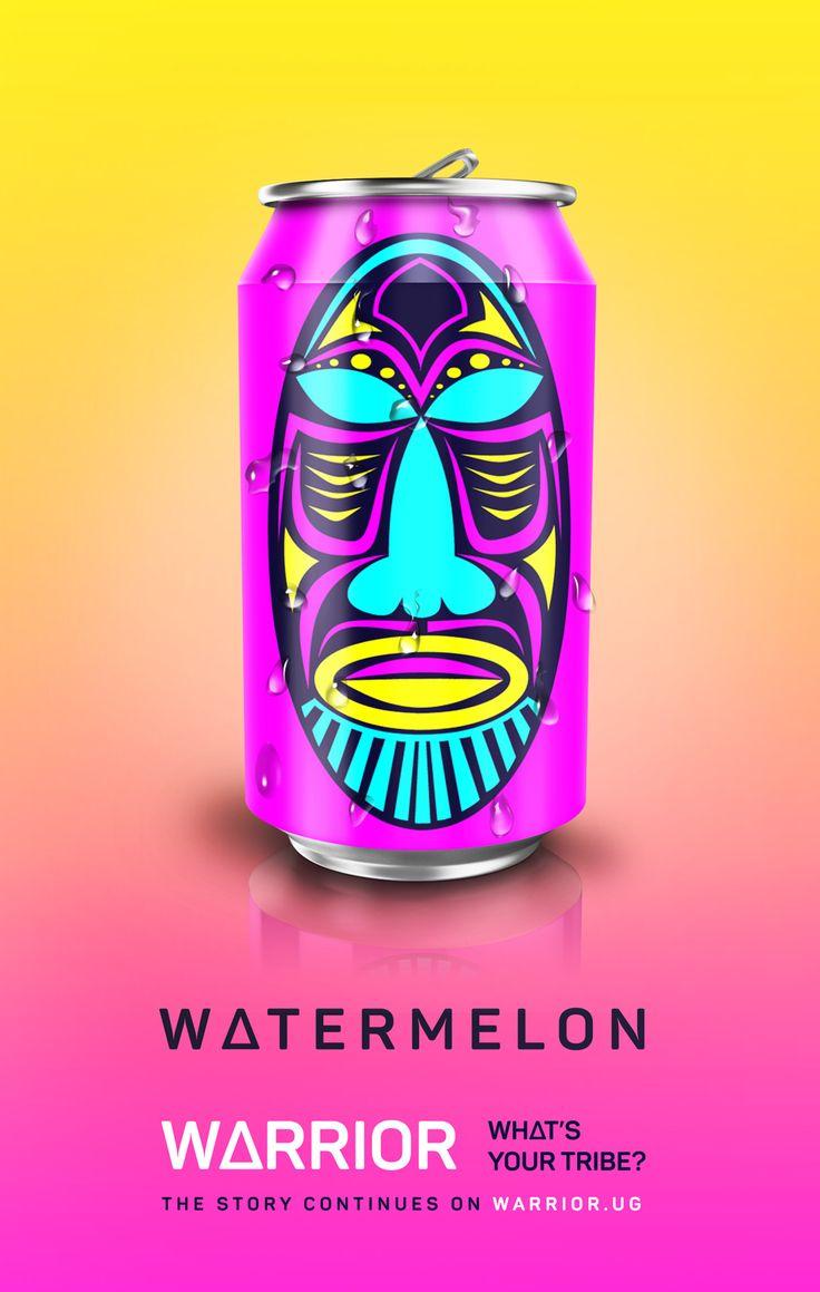Warrior (boisson énergisante) | Design (concept) : Arnold Mugasha, Kampala, Uganda (août 2016)