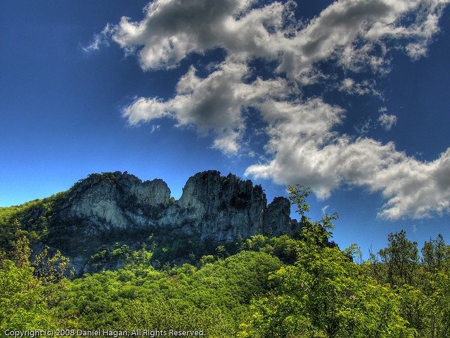 Seneca Rocks, WV  I've been here and it is absolutely beautiful, especially in the fall.  I will go back many times.