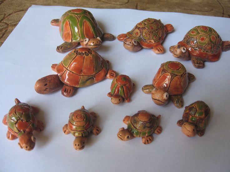 Želvičky z keramiky