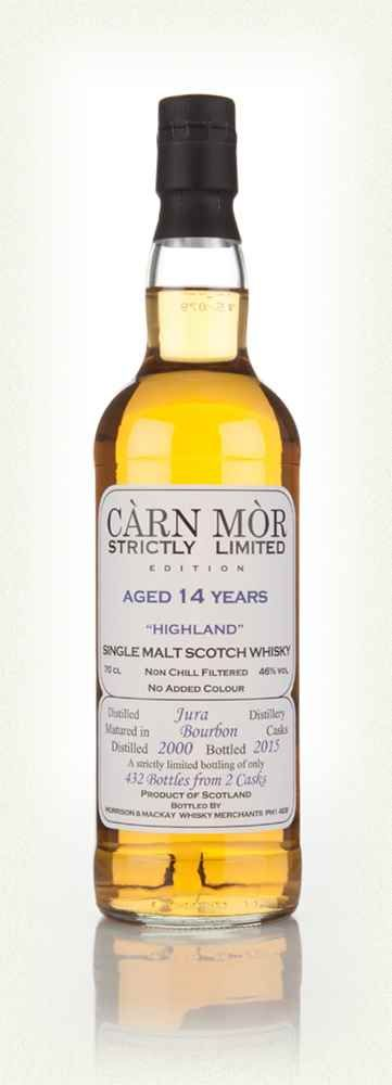 August 2016 OWG Tasting @CarnMorWhiskies @jura_whisky 14yr 2000-2015 Càrn Mòr Strictly Limited Edition Bourbon Cask 432 Bottles 46%