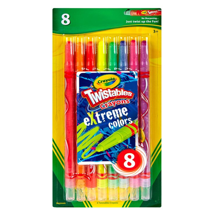 Crayola Twistable Crayons 8ct eXtreme Colors,