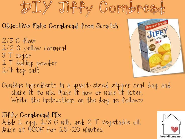 DIY Make Jiffy Corn Muffin Mix at home  I love this cornbread and have got to make this.