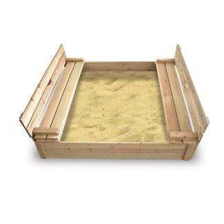 sandbox with bench seats! so cute!