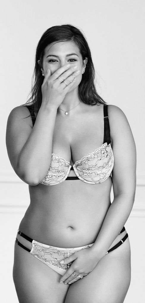 """""""I believe beauty is beyond size. With so much emphasis on the body and external, it's no wonder that we all suffer so much internally."""" – Ashley Graham, pictured in Lane Bryant's #ImNoAngel campaign."""