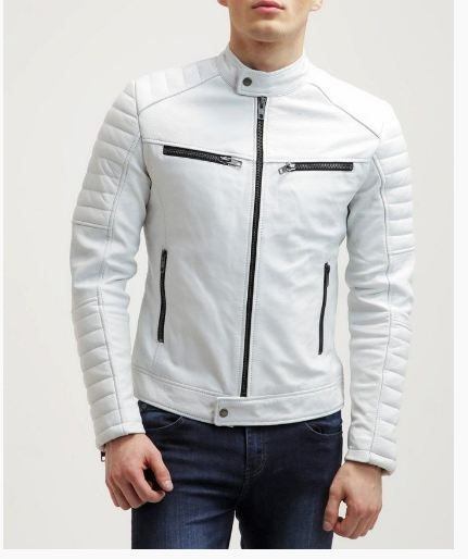 Best 25  White leather jacket mens ideas on Pinterest | Mens ...