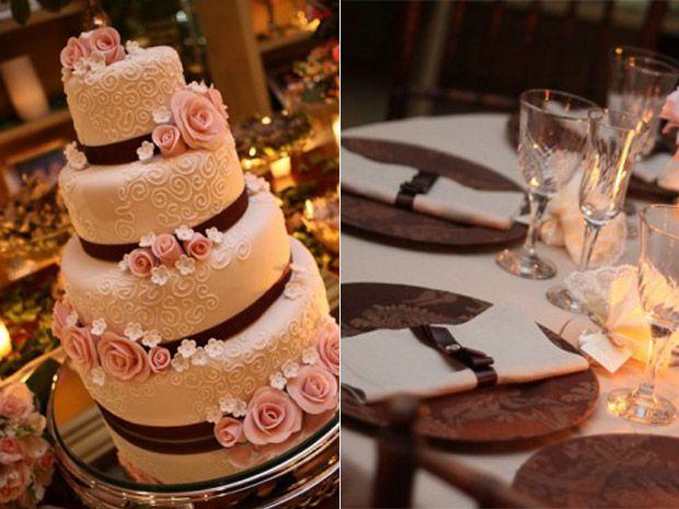 Casamento em rosa e marrom: dupla comp?e diferentes estilos de ...
