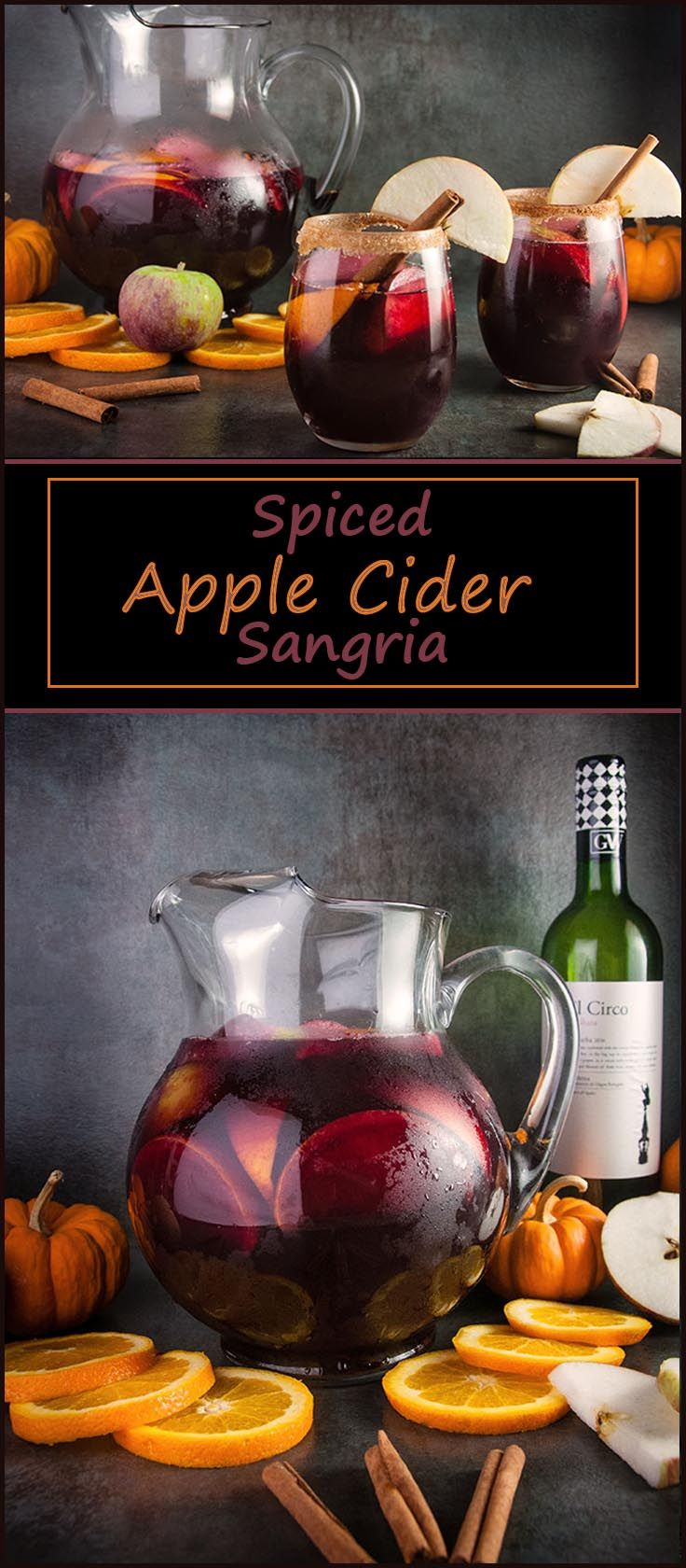 Spiced Apple Cider Sangria #ad #GarnachaDay #GrenacheDay @winesofGarnacha