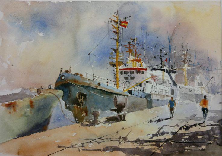 Barco atracado en el muelle