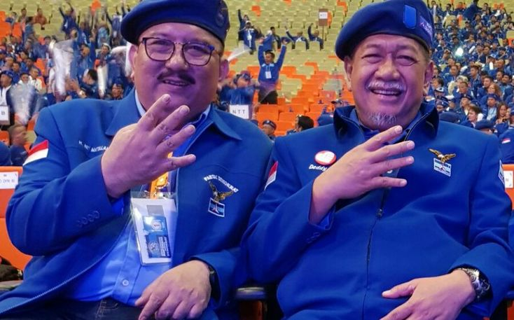 Ketua Demokrat Sulsel dan Mantan Wagub Jabar Salam 4 Jari IYL-Cakka