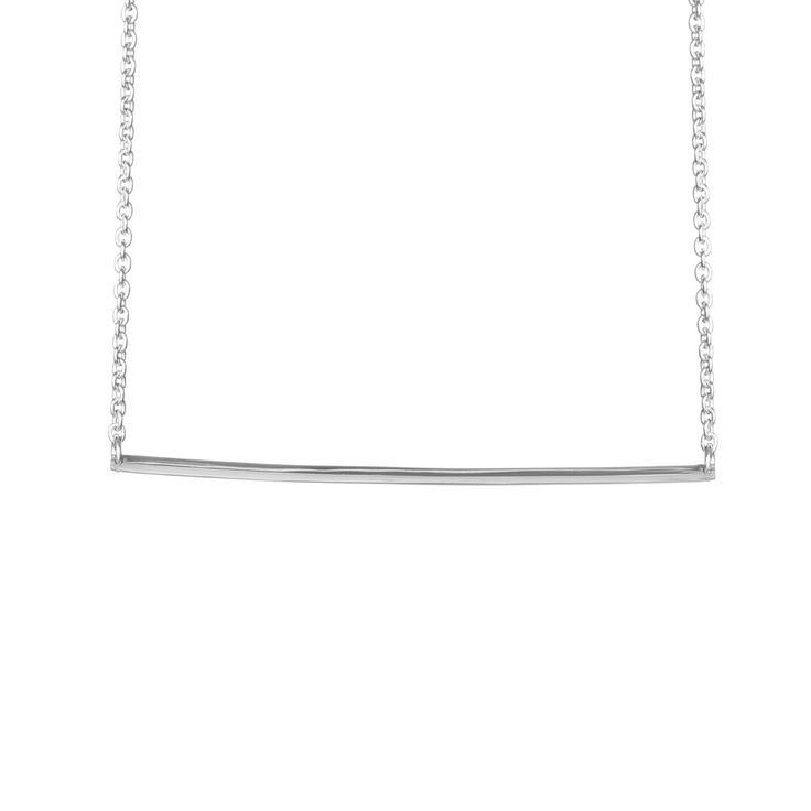 Statement Bar Necklace - Sterling Silver / Free Series