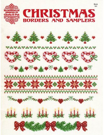 Christmas cross-stitch border ideas